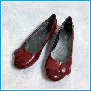 Naturalizer Red Patent Leather Flats